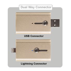 iShowfast dual connector for Lightning and USB