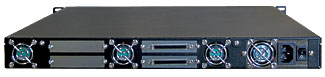 Rackmount R1U fixed enclosures, back view