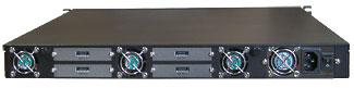 R1U REM rackmount network storage enclosures BACK
