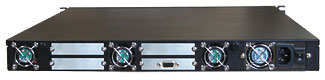 Rackmount R1U REM Enclosures back view