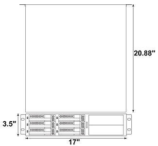 Rackmount R2U 6HDD 2 BAYS Enclosures