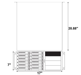 Rackmount R4U Enclosures 12HDD 4 BAYS